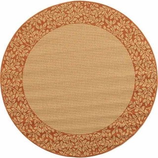Safavieh Indoor/ Outdoor Courtyard Natural/ Terra Rug (7'10 Round)