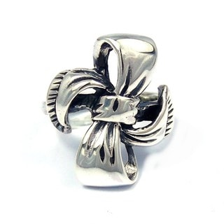 Sterling Silver Sweet Ribbon or Bow Tie Knot Ring (Thailand)
