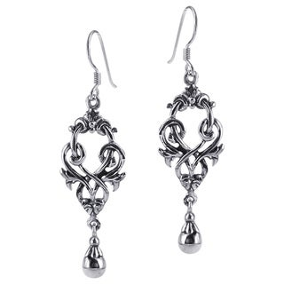 Exquisite Celtic Knots Ball Drop Sterling Silver Earrings (Thailand)