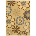 Safavieh Indoor/ Outdoor Courtyard Natural Brown/ Blue Rug (8' x 11')