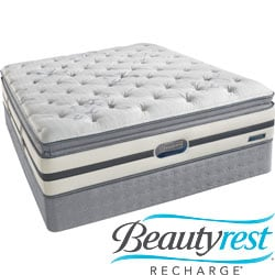 Beautyrest Recharge 'Maddyn' Plush Pillow Top Cal King-size Mattress Set