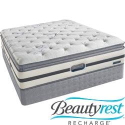 Beautyrest Recharge 'Maddyn' Plush Pillow Top Cal King-size Mattress Set