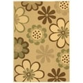 Safavieh Indoor/ Outdoor Courtyard Natural Brown/ Olive Area Rug (8' x 11')
