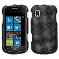 BasAcc Black Diamante Protector Case for Samsung� I917 Focus