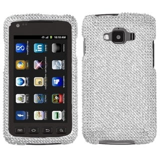 BasAcc Silver Diamante Protector Case for Samsung I847 Rugby Smart