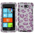 BasAcc Purple Leopard Diamante Case for Samsung� I677 Focus Flash