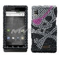 BasAcc Skull Diamante Case for Motorola A855 Droid