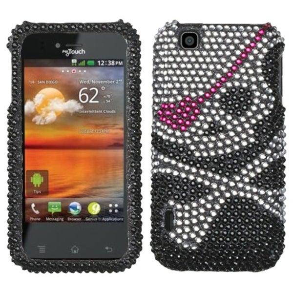INSTEN Skull Diamante Phone Case Cover for LG E739 myTouch