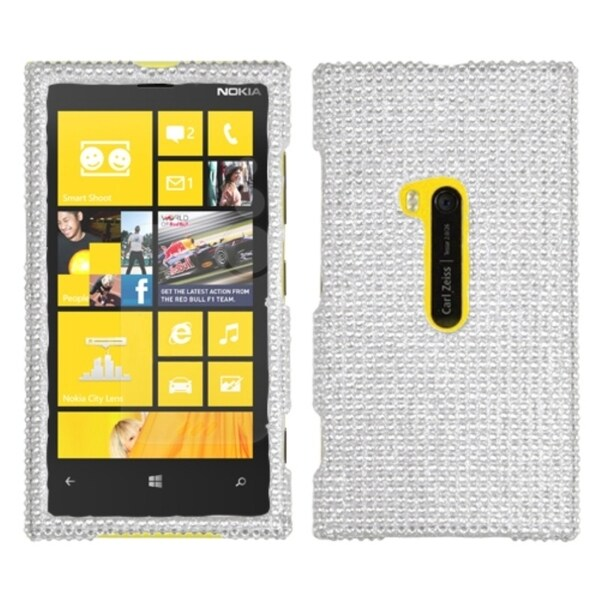 INSTEN Silver Diamante Phone Case Cover for Nokia 920 Lumia