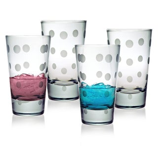 Pearls Collection Hiball Glasses (Set of 4)
