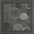 Safavieh Indoor/ Outdoor Courtyard Black/ Sand Rug (7'10 Square)