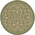 Safavieh Indoor/ Outdoor Courtyard Olive/ Natural Area Rug (7'10 Round)