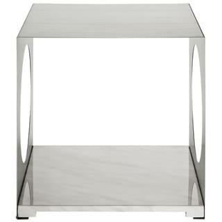 'Surpass' Marble Top Modern Side Table