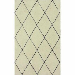 nuLOOM Handmade Moroccan Trellis Shag Area Rug (8' x 10')