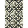 nuLOOM Handmade Outdoor Marrakesh Trellis Charcoal Rug (7'6 x 9'6)