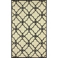 nuLOOM Handmade Indoor / Outdoor Lattice Trellis Ivory Rug (6' x 9')