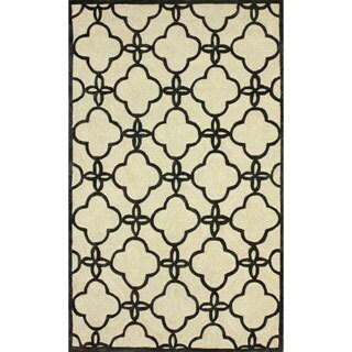 nuLOOM Handmade Indoor / Outdoor Lattice Trellis Ivory Rug (8'3 x 11')