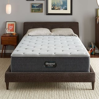 Beautyrest Silver BRS900 12-inch Plush Innerspring Mattress Set