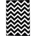 Hand-carved Chevron Contemporary Black Area Rug (7'10 x 9'10)