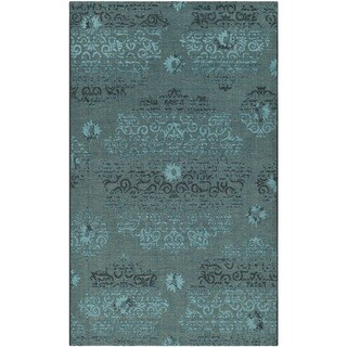 Safavieh Palazzo Black/Turquoise Over-Dyed Chenille Area Rug (4' x 6')