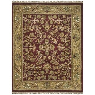 Safavieh Hand-made Heritage Red/ Gold Wool Rug (10' x 14')