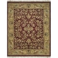 Safavieh Hand-made Heritage Red/ Gold Wool Rug (5' x 8')