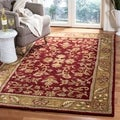 Safavieh Hand-made Heritage Red/ Gold Wool Rug (6' x 9')