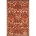 Safavieh Hand-made Heritage Red/ Green Wool Rug (6' x 9')