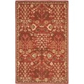 Safavieh Hand-made Heritage Red/ Green Wool Rug (6' x 9')