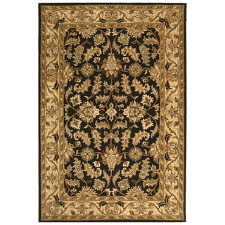 Safavieh Hand-made Heritage Black/ Beige Wool Rug (11' x 17')