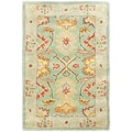 Safavieh Hand-made Heritage Light Blue/ Ivory Wool Rug (2'6 x 4')