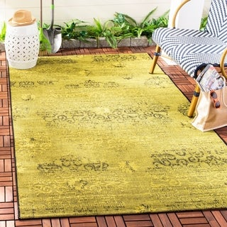 Transitional Safavieh Palazzo Black/Green Over-Dyed Chenille Rug (8' x 11')