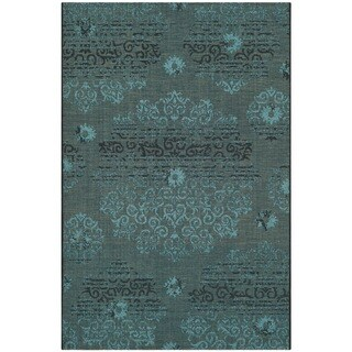 Safavieh Palazzo Black/ Turquoise Over-dyed Chenille Rug (3' x 5')