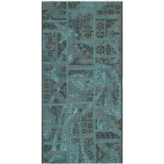 Safavieh Palazzo Black/Turquoise Overdyed Chenille Area Rug (3' x 5')