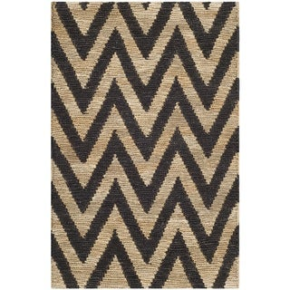 Safavieh Hand-knotted Organic Black/ Natural Wool Rug (2'6 x 4')