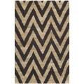 Safavieh Hand-knotted Organic Black/ Natural Wool Rug (2'6 x 4')