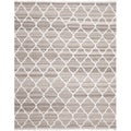 Safavieh Hand-woven Natural Kilim Light Grey/ Ivory Wool Rug (6' x 9')