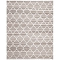Safavieh Hand-woven Natural Kilim Light Grey/ Ivory Wool Rug (9' x 12')