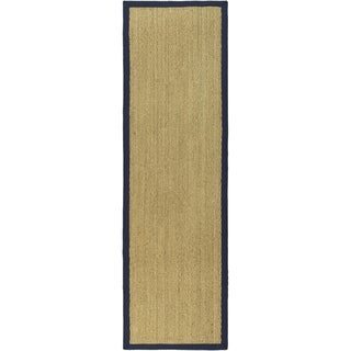 Safavieh Natural Fiber Natural/ Blue Sisal Sea Grass Rug (2'6 x 10')