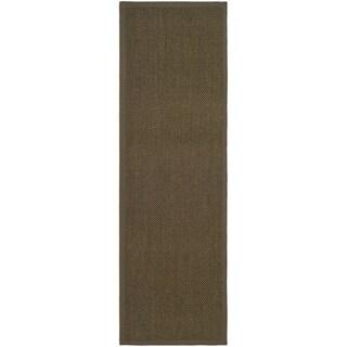 Safavieh Natural Fiber Brown/ Brown Sisal Rug (2'6 x 18')