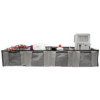 Florida Brands Grey 4-section Adjustable Trunk Organizer