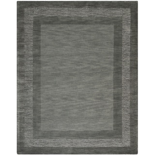 Safavieh Hand-made Impressions Charcoal/ Blue Wool Rug (8'3 x 11')