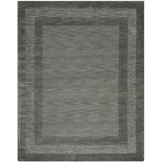 Safavieh Hand-made Impressions Charcoal/ Blue Wool Rug (8'3 x 11')