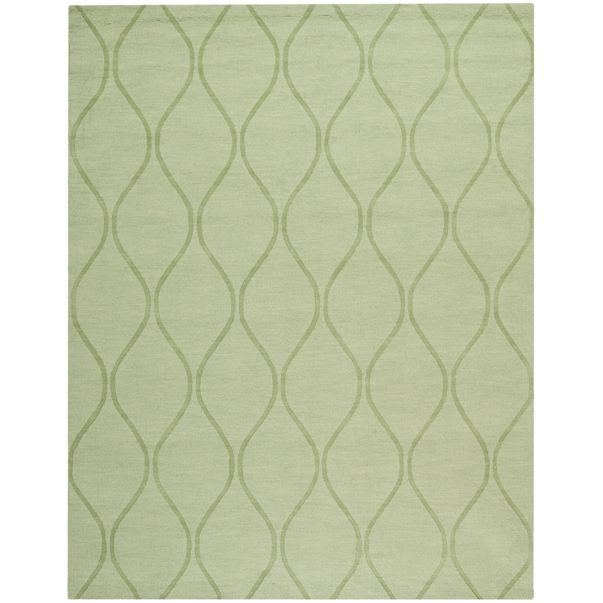 Safavieh Hand-made Impressions Green Wool Rug (8'3 x 11')