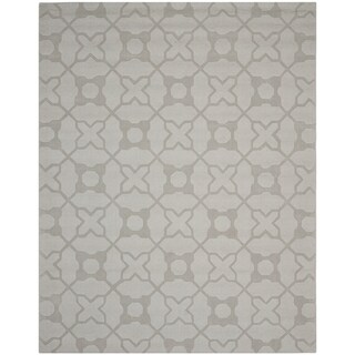 Safavieh Hand-made Impressions Silver Wool Rug (8'3 x 11')