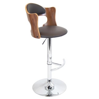 'Cello' Adjustable Bent Wood Scooped Barstool