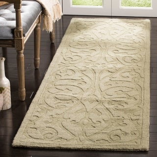 Safavieh Hand-Made Impressions Sage Wool Area Rug (2'3 x 6')