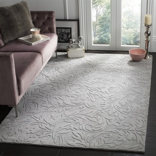 Safavieh Hand-made Impressions Grey Wool Rug (8'3 x 11')