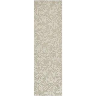 Safavieh Hand-made Impressions Sage Wool Rug (2'3 x 6')