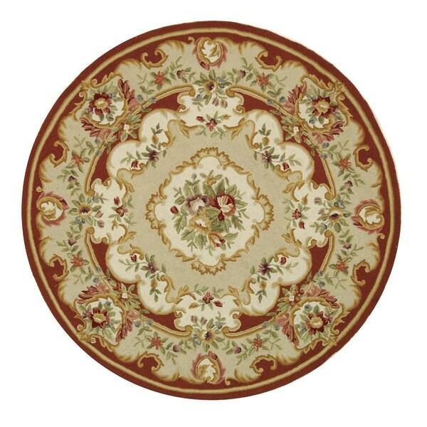 Safavieh Handmade Chelsea Floral Ivory Wool Rug (8' Round)
